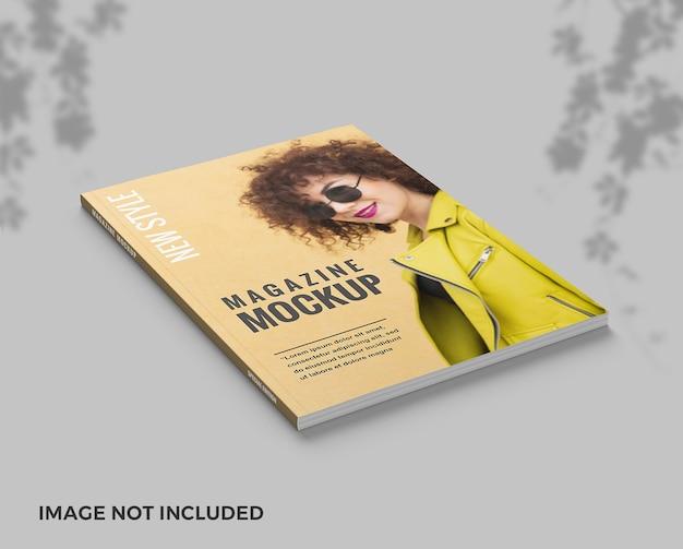 Maquete da capa da revista elengant com vista superior