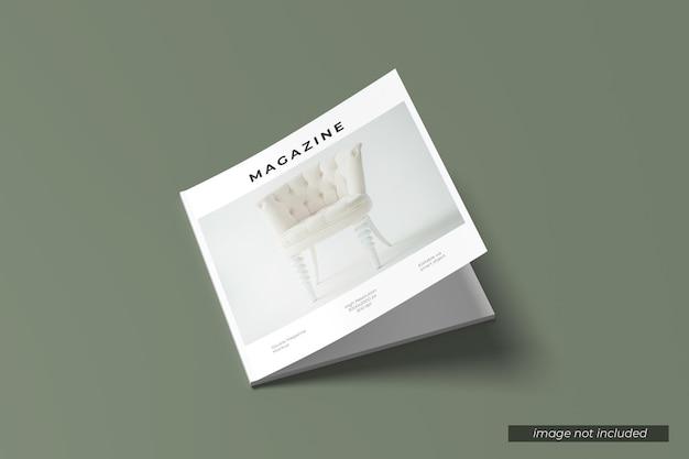 Maquete da capa da revista quadrada