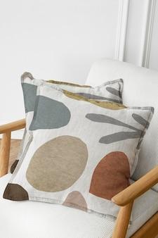 Maquete da capa de almofada com design escandinavo