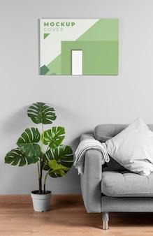 Maquete da capa de design de interiores