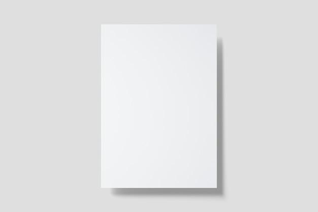 Maquete da capa do folheto com vista superior