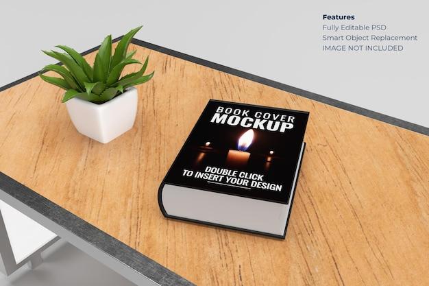 Maquete da capa do livro em renderização 3d Psd Premium