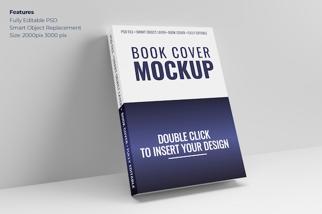 Maquete da capa do livro em renderização 3d