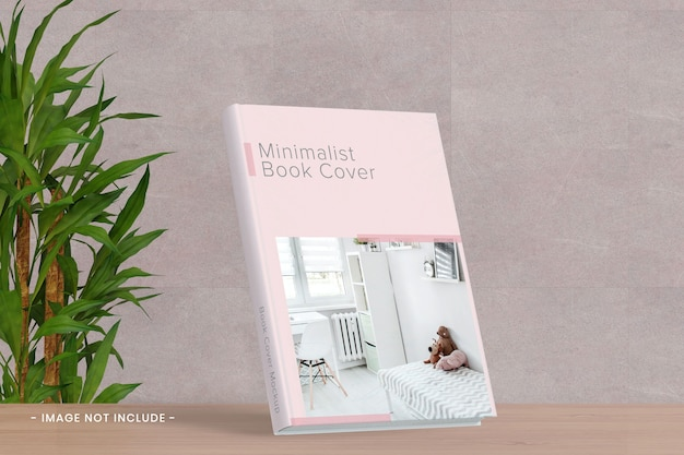 Maquete da capa do livro na mesa Psd Premium