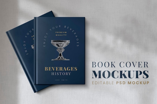 Maquete da capa do livro psd, design editável