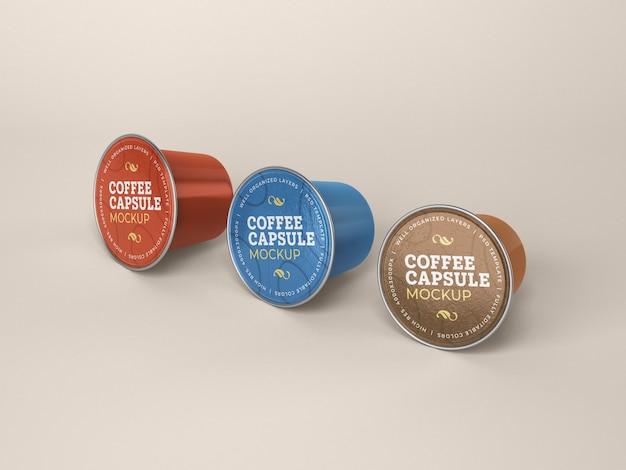 Maquete da cápsula de café