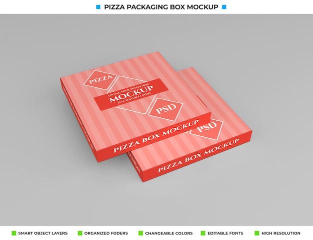 Maquete da embalagem da caixa de pizza de papelão para fora