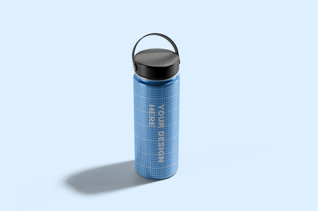 Maquete da garrafa de água do hydro flask