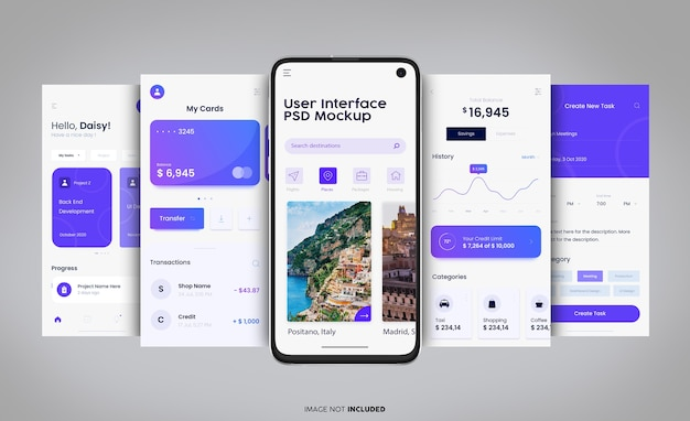 Maquete da interface do usuário