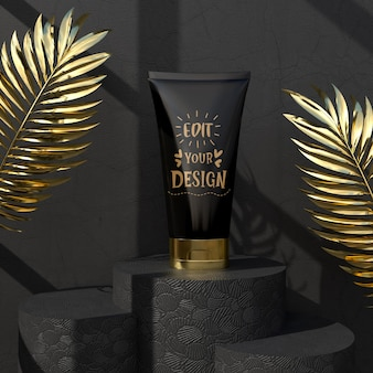 Maquete da marca de cosméticos. pacote para branding e identidade. pronto para o seu design