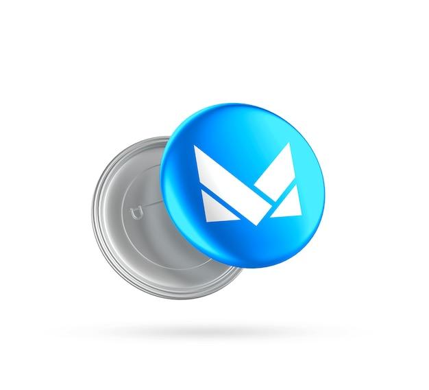 Maquete da marca do botão do crachá realista