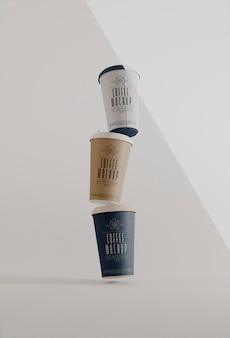 Maquete da marca do café