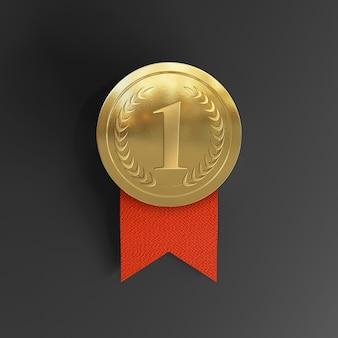 Maquete da medalha de ouro do prêmio de primeiro lugar