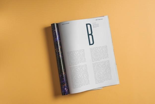 Maquete da página do livro