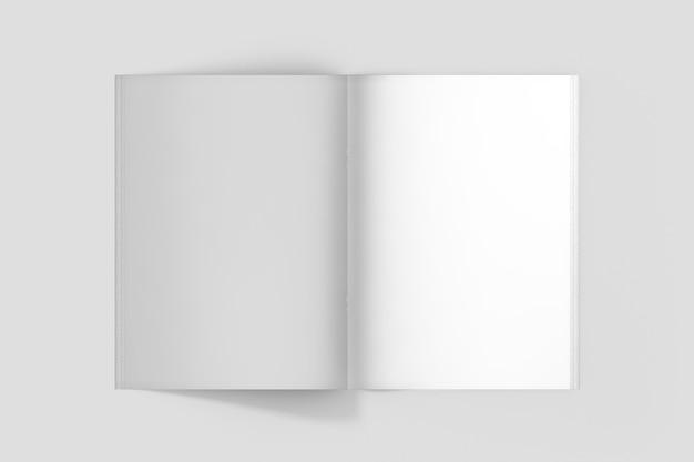 Maquete da página interna do folheto com vista superior
