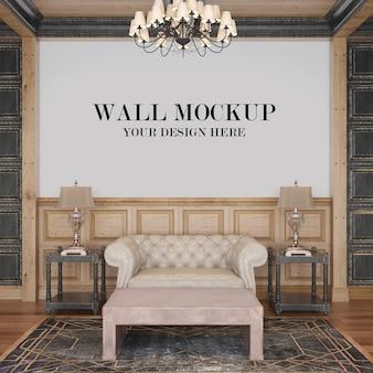 Maquete da parede da sala de estar do chalé