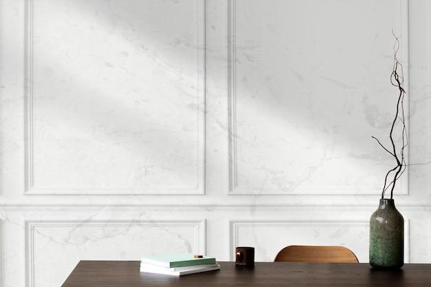 Maquete da parede da sala de estar psd interior luxuoso moderno