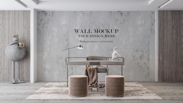 Maquete da parede da sala de trabalho para suas texturas