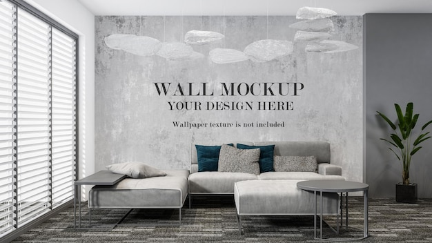 Maquete da parede da sala para suas texturas