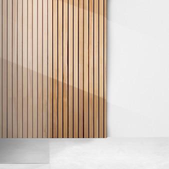 Maquete da parede da sala vazia psd japandi design de interiores