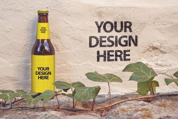 Maquete da parede de cerveja