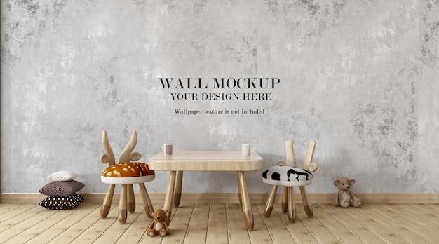 Maquete da parede do quarto infantil