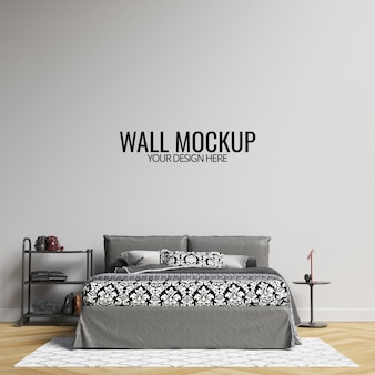 Maquete da parede do quarto interior