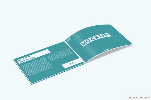 Maquete da revista de paisagem aberta com vista em perspectiva