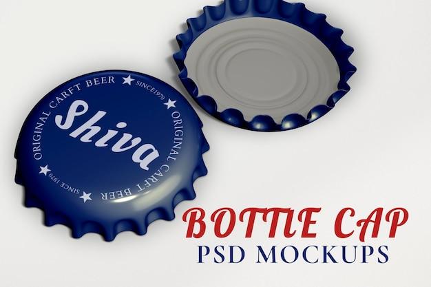 Maquete da tampa da garrafa psd, marca do produto de bebidas