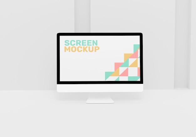 Maquete da tela da área de trabalho do computador