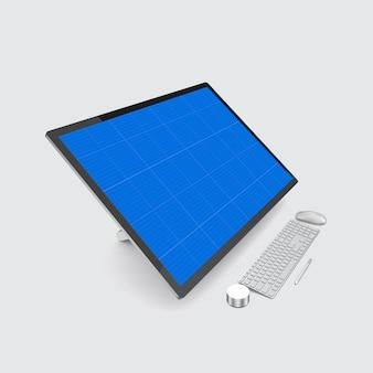 Maquete da tela do computador