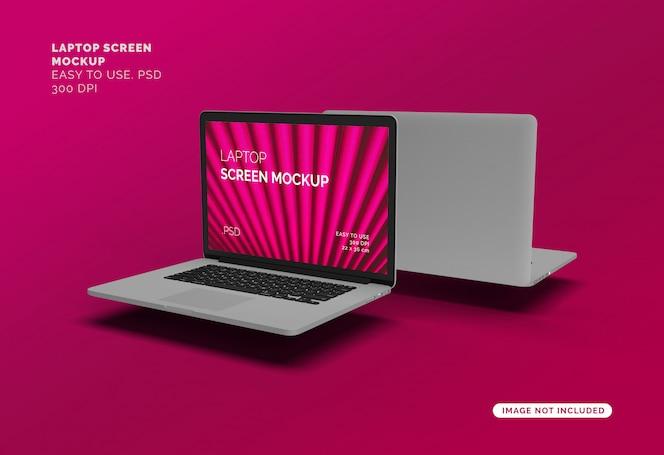Maquete da tela do laptop