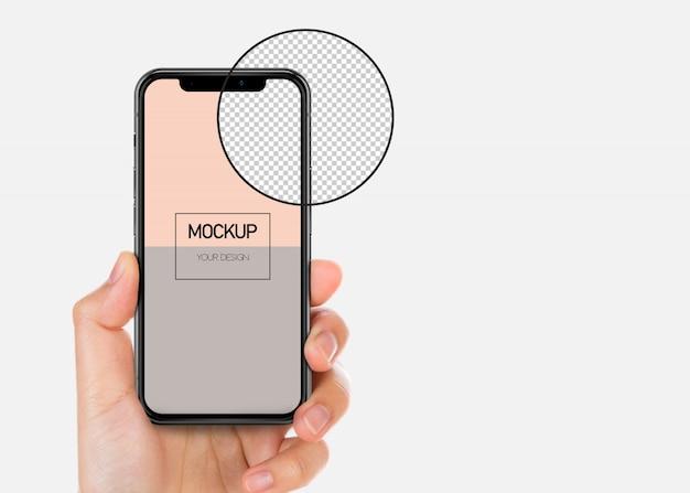 Maquete da tela do smartphone