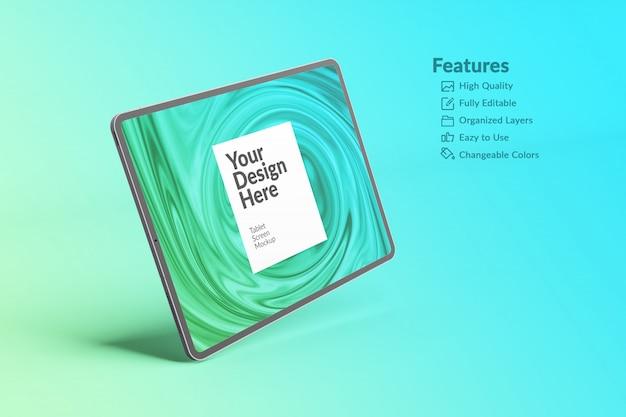 Maquete da tela do tablet para dispositivo digital editável