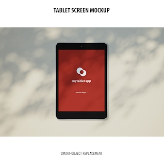 Maquete da tela do tablet