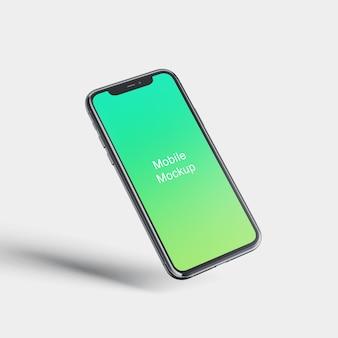 Maquete da tela do telefone móvel