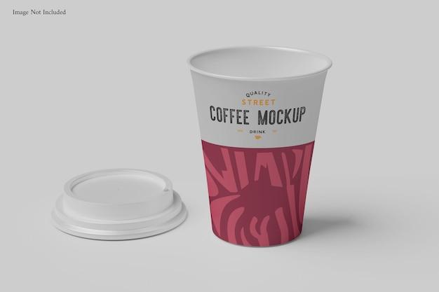 Maquete da xícara de café