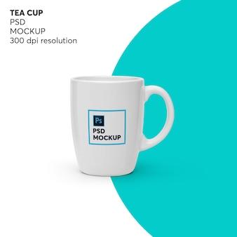Maquete da xícara de chá