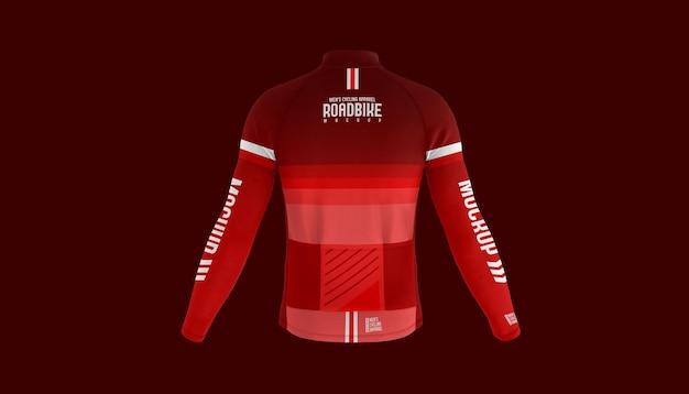Maquete das costas da camisa de ciclismo