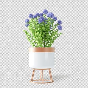 Maquete de 3d renderizados plantas em vaso