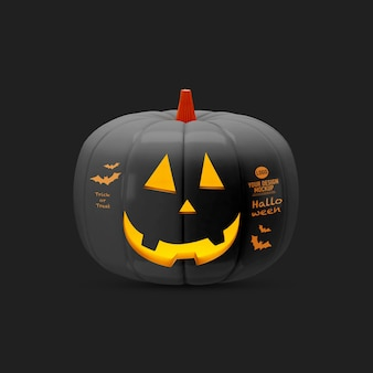 Maquete de abóbora de halloween isolada