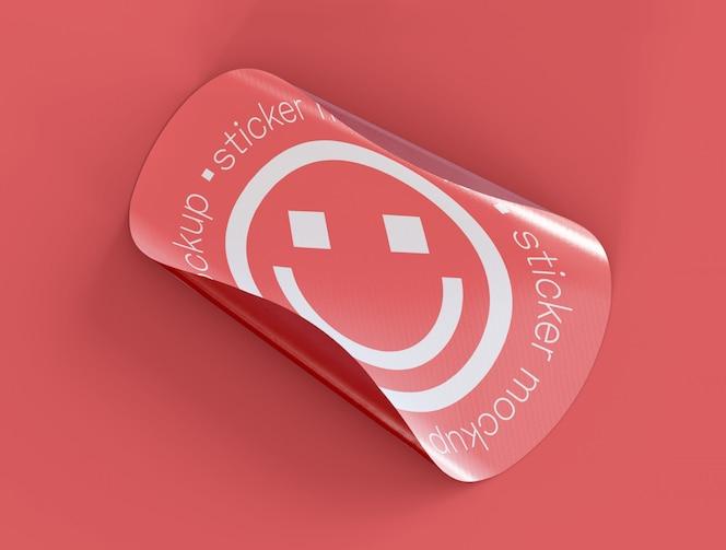 Maquete de adesivo adesivo