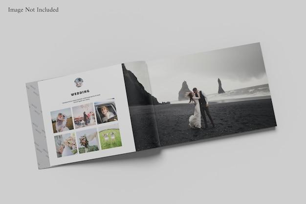 Maquete de álbum de livro de paisagem