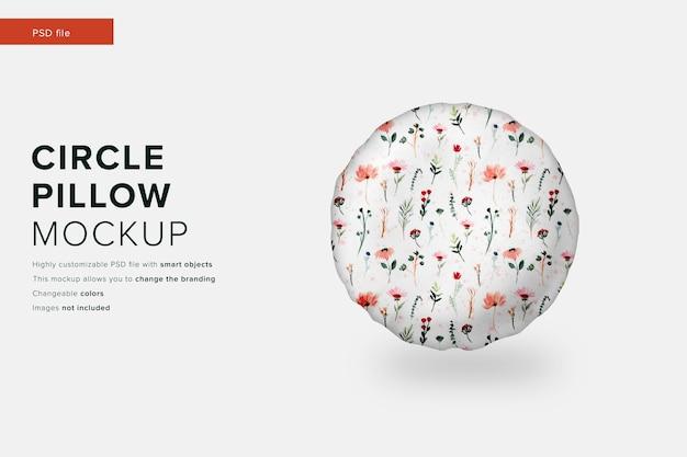 Maquete de almofada circular em maquete de design moderno Psd Premium