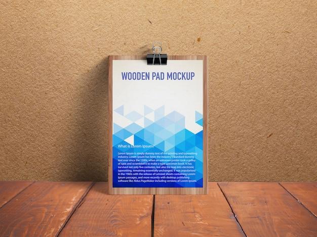 Maquete de almofada de madeira