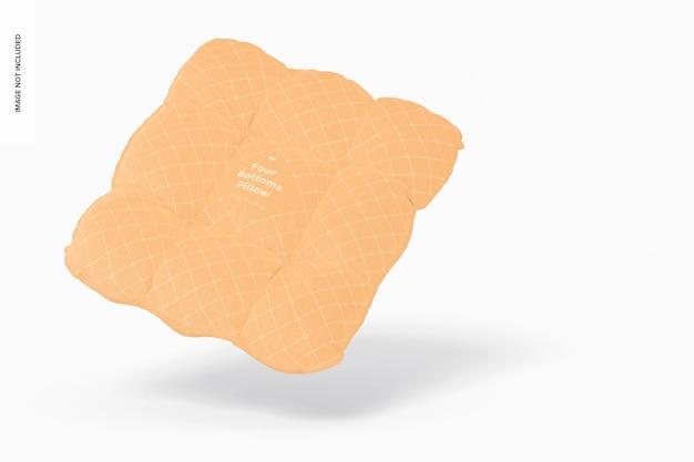 Maquete de almofada de quatro botões, flutuante