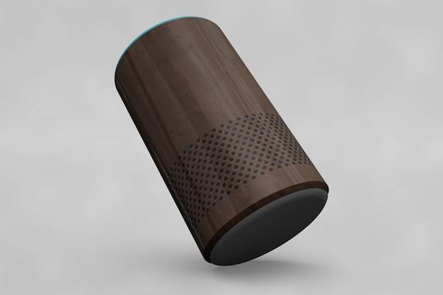 Maquete de alto-falante em forma de cilindro