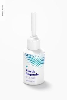 Maquete de ampola de plástico de 10 ml