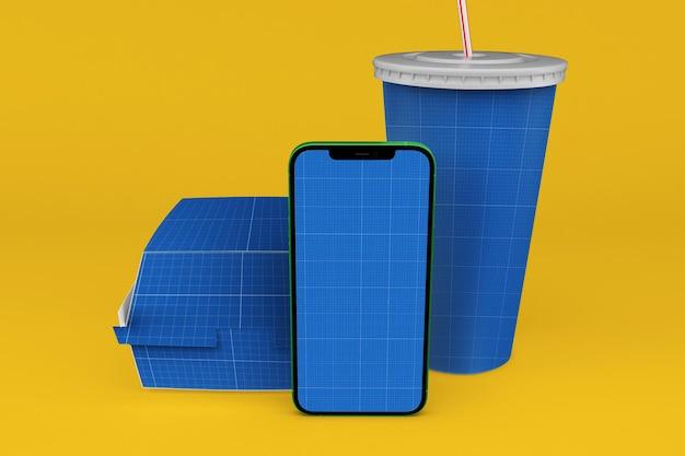 Maquete de aplicativo de fast food