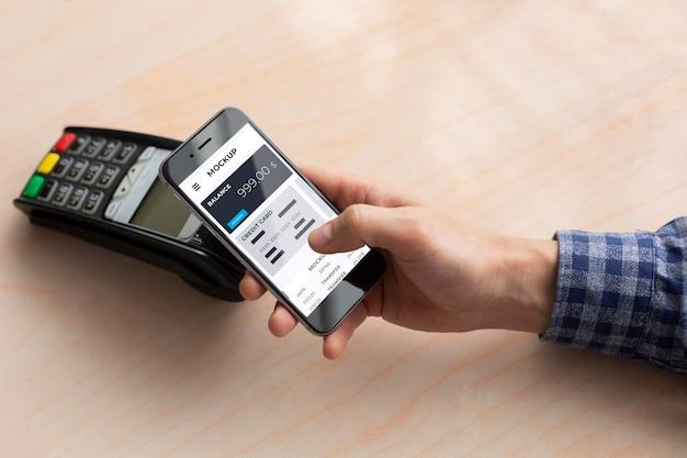 Maquete de aplicativo de pagamento móvel